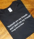 Animals are my Friends T-shirt – Black