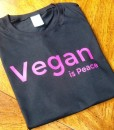 Pink on Black – Vegan is Peace