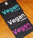Vegan is Peace – Black shirt options