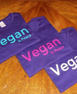 Vegan is Peace - Ladies - Purple Options