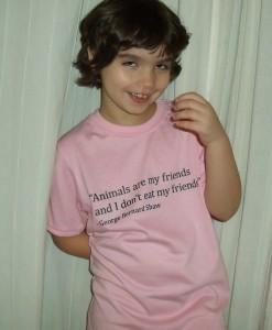 Black ink on Pink Kid's T-shirt