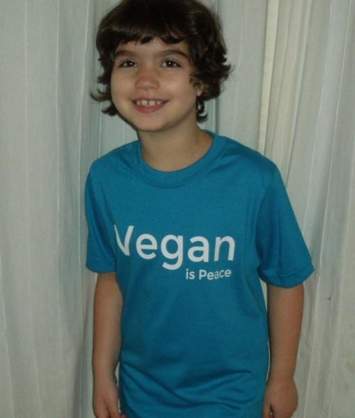 Kids – Vegan is Peace T-shirt