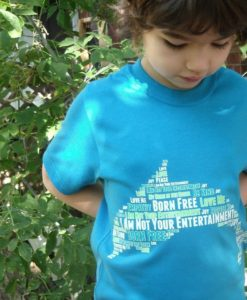 Dolphin Word Cloud T-shirt - Kids