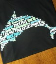 Dolphin Word Cloud T-shirt in black