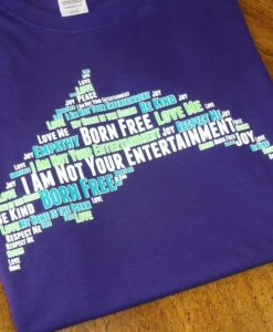 Dolphin Word Cloud T-shirt - Purple Ladies