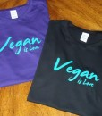 Vegan is Love – Turquoise Ink options