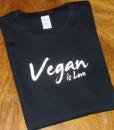 Vegan is Love – Black T-shirt