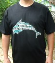 Dolphin Word Cloud T-shirt – Men's Black