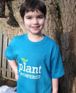 Turquoise Plant Powered 2 - youth large
