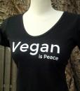 Vegan is Peace - Bamboo Scoop Neck Shirt