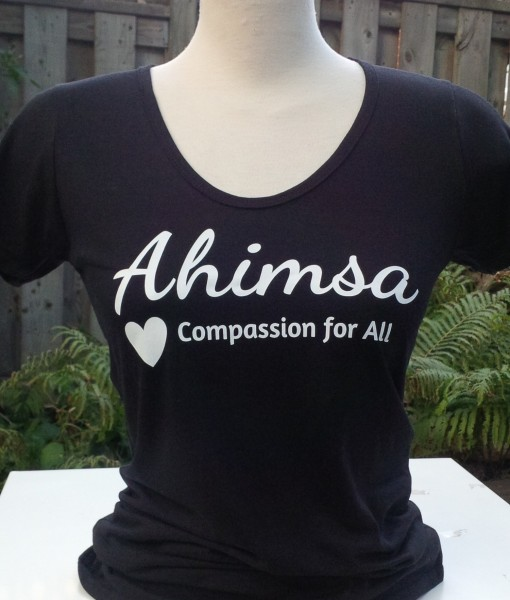 Ahimsa – Compassion for All – Scoop Neck