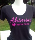 Ahimsa – Harm None – Pink Ink
