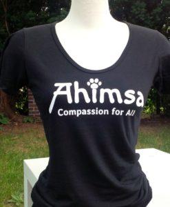 Ahimsa Paw - Bamboo Scoop t-shirt